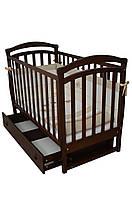 Кроватка детская  ящик, маятник Орех Соня ЛД - 6, фото 1