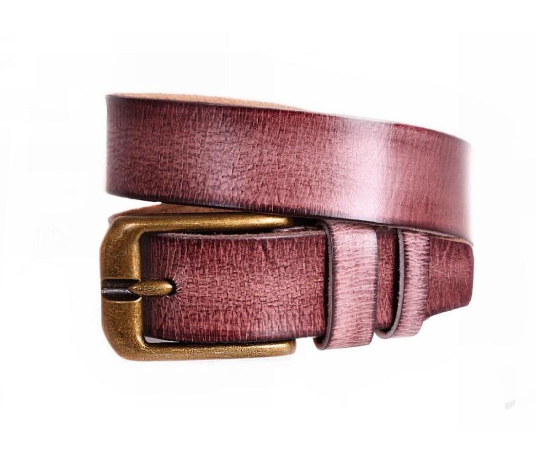 Мужской кожаный ремень коричневый NAVI 5283
