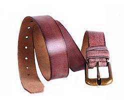 Мужской кожаный ремень коричневый NAVI 5283, фото 2