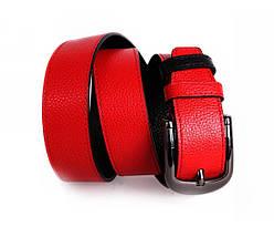 Мужской кожаный ремень черный/красный NAVI 5148, фото 2
