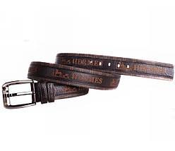 Мужской кожаный ремень коричневый NAVI 8401, фото 3