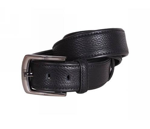 Мужской кожаный ремень черный NAVI 240736, фото 2