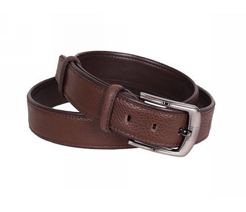 Мужской кожаный ремень коричневый NAVI 240735, фото 2