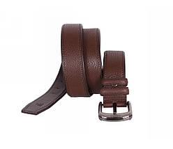 Мужской кожаный ремень коричневый NAVI 240735, фото 3