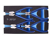 Набор съемников стопорных колец, ложемент EVO, 4 пр. King Tony 9-42114GPV