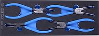 Набор съемников стопорных колец, ложемент, 4 пр. King Tony 9-44214GPV