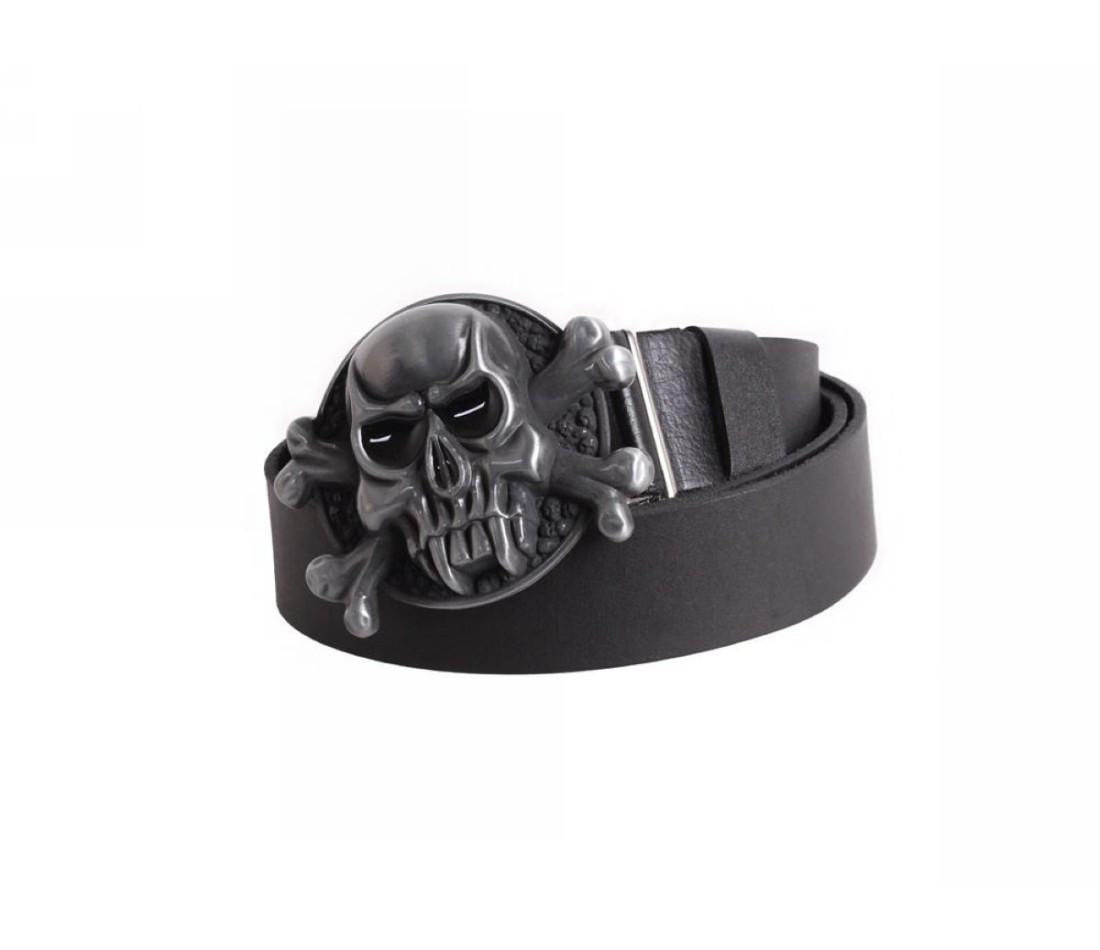 Мужской кожаный ремень черный NAVI 49127