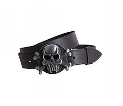 Мужской кожаный ремень черный NAVI 49127, фото 2