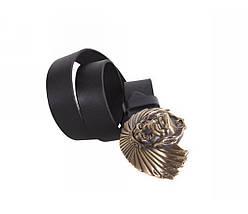Мужской кожаный ремень черный NAVI 49132, фото 3