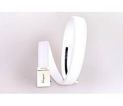 Женский кожаный ремень белый NAVI 230721, фото 2