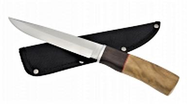 Тотем 571, охотничий нож, классический стиль, деревянная рукоять, цельная конструкция