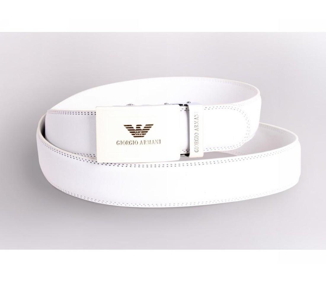 Женский кожаный ремень белый NAVI 230725