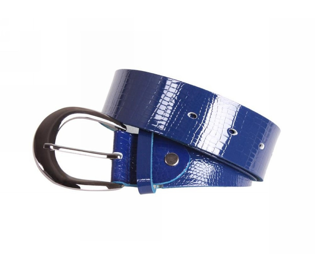 Женский кожаный ремень синий NAVI 230735
