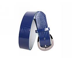 Женский кожаный ремень синий NAVI 230735, фото 2