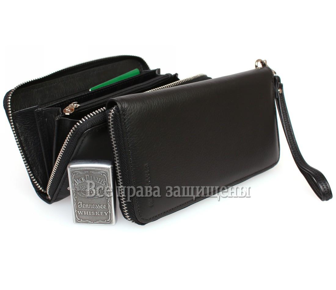 Мужской кожаный кошелек черный Marco Сoverna MC-802-1m