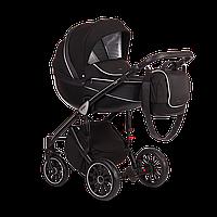 Универсальная коляска 2 в 1 Anex Sport Q1 SP13 чёрная экокожа и чёрный жаккард