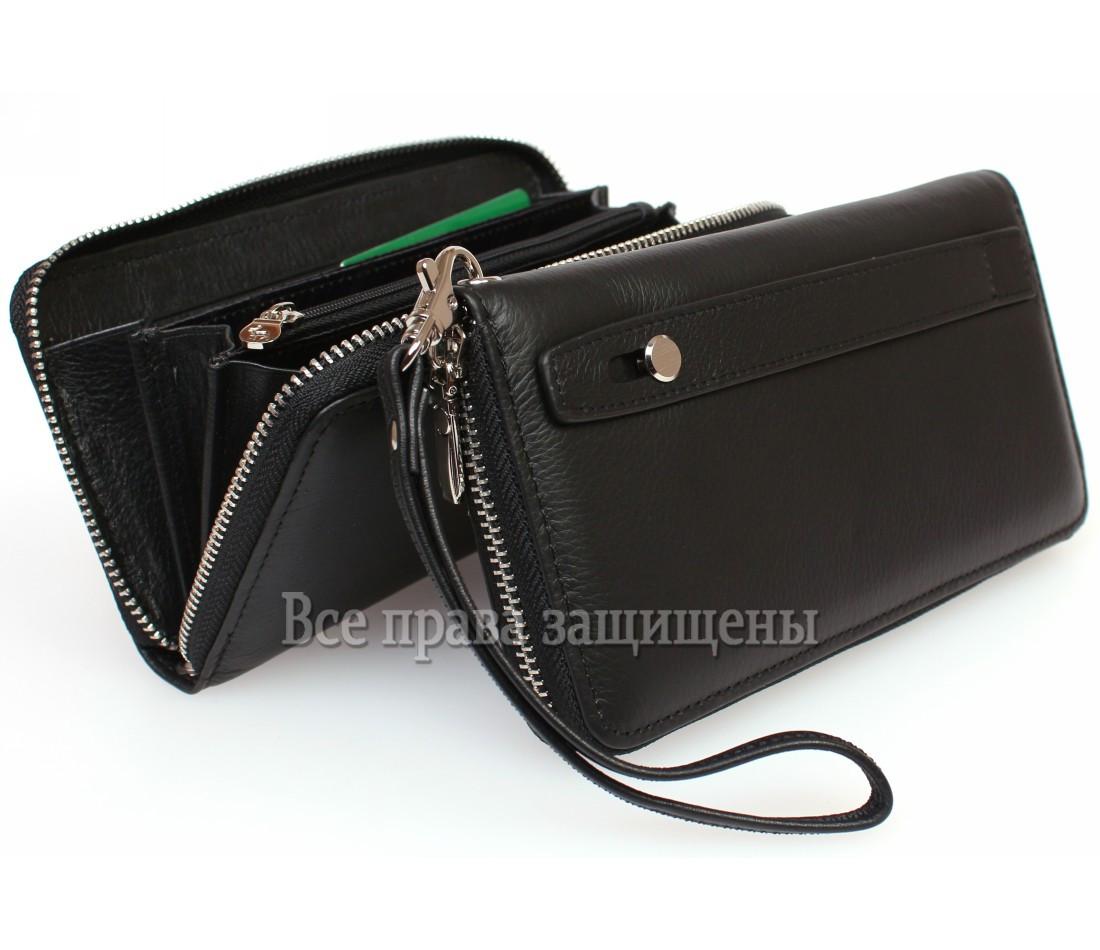 Женский кожаный кошелек черный Marco Сoverna MC-802-1w