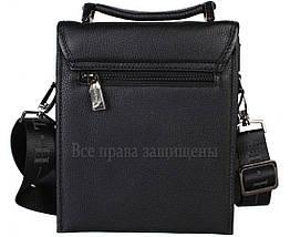 Чоловіча чорна шкіряна сумка (Формат: більше А5) HT-403-4, фото 3