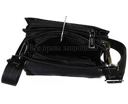 Мужская кожаная сумка через плечо черная (Формат: больше А5) HT-403-4A, фото 2