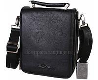 Мужская кожаная сумка черная (Формат: больше А5) HT-1021-3