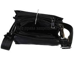 Чоловіча чорна шкіряна сумка (Формат: більше А5) HT-403-5, фото 3