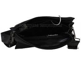Чоловіча шкіряна сумка через плече чорна (Формат: більше А5) HT-5281-4, фото 2