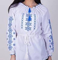 Женская белая блуза из поплина