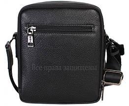 Чоловіча чорна шкіряна сумка (Формат: більше А5) HT-407-29, фото 3