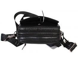 Мужская кожаная сумка через плечо черная (Формат: меньше А5) HT-407-33, фото 2