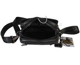 Мужская кожаная сумка через плечо черная (Формат: меньше А5) HT-407-33, фото 3