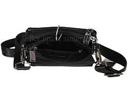 Чоловіча чорна шкіряна сумка (Формат: більше А5) HT-1330-5, фото 3
