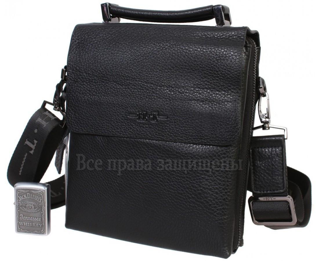 5440f6ca32ed Мужская кожаная сумка черная (Формат: больше А5) HT-5120-5, цена 1 ...