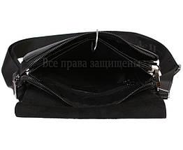 Мужская кожаная сумка через плечо черная (Формат: больше А5) HT-5127-4, фото 2