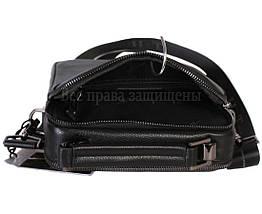 Чоловіча чорна шкіряна сумка (Формат: більше А5) HT-9027-5, фото 3
