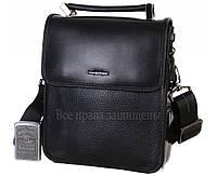 Мужская кожаная сумка черная (Формат: меньше А5) HT-9203-6