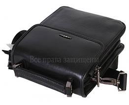 Чоловіча чорна шкіряна сумка (Формат: менше А5) HT-9203-6, фото 3