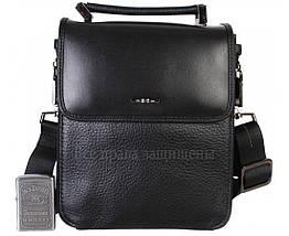 Чоловіча чорна шкіряна сумка (Формат: менше А5) HT-9203-6, фото 2