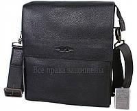 Мужская кожаная сумка черная (Формат: больше А5) HT-5127-3