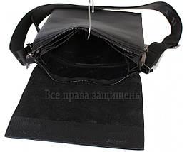 Чоловіча чорна шкіряна сумка (Формат: більше А5) HT-5127-3, фото 3