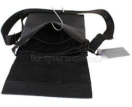 Чоловіча чорна шкіряна сумка (Формат: більше А5) HT-5127-3, фото 2