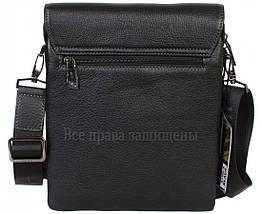 Чоловіча чорна шкіряна сумка (Формат: більше А5) HT-5190-3, фото 3