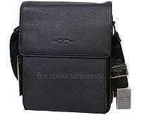 Мужская кожаная сумка черная (Формат: больше А5) HT-1571-3