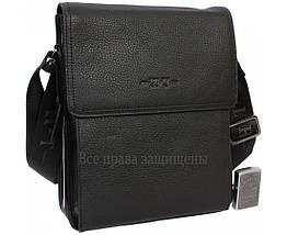 Чоловіча чорна шкіряна сумка (Формат: більше А5) HT-1571-3, фото 2