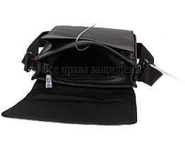 Чоловіча чорна шкіряна сумка (Формат: більше А5) HT-1571-3, фото 3
