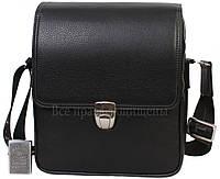 Мужская кожаная сумка черная (Формат: больше А5) HT-5227-3