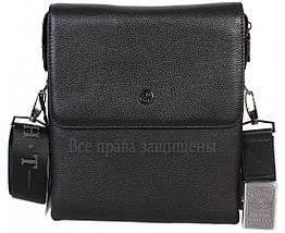 Чоловіча чорна шкіряна сумка (Формат: більше А5) HT-5262-4, фото 2
