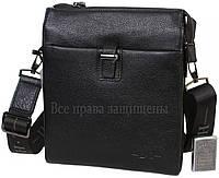 Мужская кожаная сумка черная (Формат: больше А5) HT-5258-4