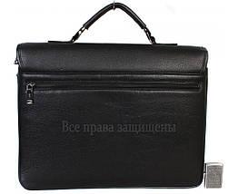 Чоловіча шкіряна сумка для ноутбука чорна (Формат: більше А4) HT-5233-1, фото 3