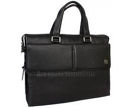 Чоловіча шкіряна сумка для ноутбука чорна (Формат: більше А4) HT-5281-1, фото 2