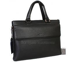 Мужская кожаная сумка для ноутбука черная (Формат: больше А4) HT-5238-1, фото 3